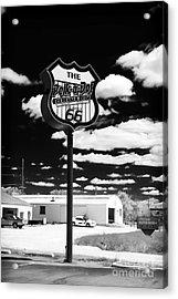 The Polk-a-dot Drive In Acrylic Print by John Rizzuto