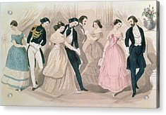 The Polka Fashions Acrylic Print by English School