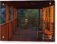 The Porch Beckons Acrylic Print by Kay Pickens