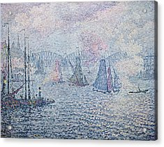 The Port Of Rotterdam, Or The Fumes Acrylic Print by Paul Signac