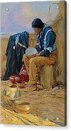 The Pottery Maker Acrylic Print by Gerald Cassidy