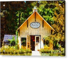 The Potting Shed Gift Shop Garden Acrylic Print by Janine Riley