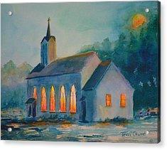 The Prayer Meeting Acrylic Print by Terri Cowart