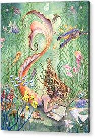 The Prayer Acrylic Print by Sara Burrier