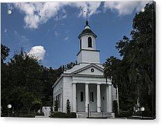 The Presbyterian Church On Edisto Island Acrylic Print by Steven  Taylor