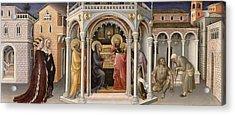 The Presentation In The Temple Acrylic Print by Gentile da Fabriano