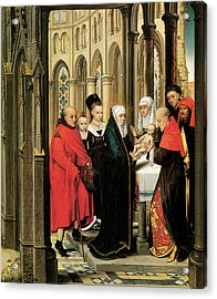 The Presentation In The Temple Acrylic Print by Hans Memling