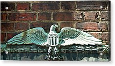 The Presidential Eagle Guards Dumbarton House Acrylic Print by Cora Wandel