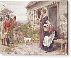 The Press Gang Acrylic Print by George Goodwin Kilburne