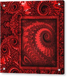 The Proper Victorian In Red  Acrylic Print by Wendy J St Christopher