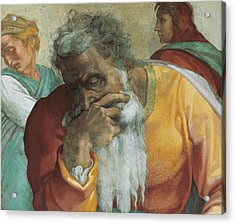 The Prophet Jeremiah Acrylic Print by Michelangelo
