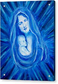 The Protecting Love Of A Mother And Her Child Acrylic Print by The Art With A Heart By Charlotte Phillips