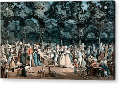 The Public Promenade Acrylic Print by Philibert-Louis Debucourt