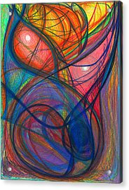 The Pulse Of The Heart Lies Strong Acrylic Print by Daina White