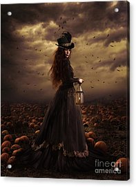 The Pumpkin Patch Acrylic Print by Shanina Conway