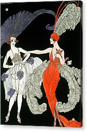 The Purchase  Acrylic Print by Georges Barbier