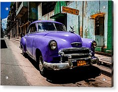 The Purple Boomer  Acrylic Print by Cecil K Brissette