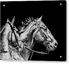 The Racers Acrylic Print by Camille Lopez