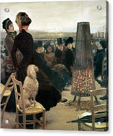The Races At Auteuil Acrylic Print by Giuseppe Nittis