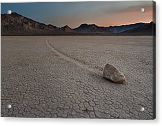 The Racetrack At Death Valley National Park Acrylic Print by Eduard Moldoveanu