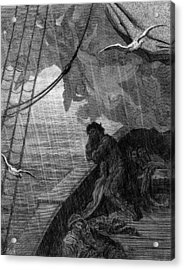 The Rain Begins To Fall Acrylic Print by Gustave Dore