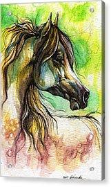 The Rainbow Colored Arabian Horse Acrylic Print by Angel  Tarantella