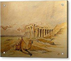 The Ramesseum Theban Necropolis Egypt Acrylic Print by Juan  Bosco