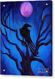 The Raven Nevermore Acrylic Print by Roz Abellera Art