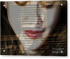 The Reader Acrylic Print by Steven  Digman