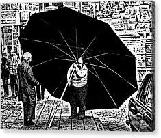 The Really Big Umbrella Acrylic Print by Jeff Breiman