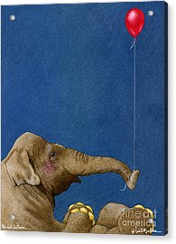 The Red Balloon... Acrylic Print by Will Bullas