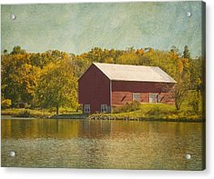 The Red Barn Acrylic Print by Kim Hojnacki