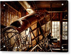The Red Barn Of The Boeing Company II Acrylic Print by David Patterson