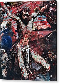The Red Christ Acrylic Print by Lovis Corinth