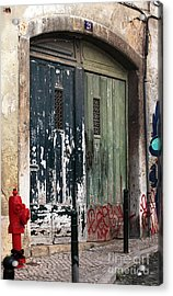 The Red Hydrant Acrylic Print by John Rizzuto