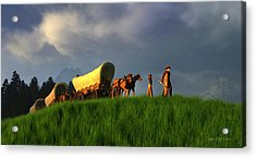 The Restless Scout Acrylic Print by Dieter Carlton