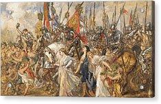The Return Of The Victors Acrylic Print by Sir John Gilbert
