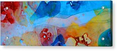The Right Path - Colorful Abstract Art By Sharon Cummings Acrylic Print by Sharon Cummings
