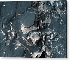 The Rim Of Holden Crater In Mars Acrylic Print by Celestial Images