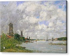 The River Meuse At Dordrecht Acrylic Print by Eugene Louis Boudin