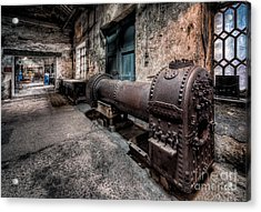 The Riveted Boiler Acrylic Print by Adrian Evans