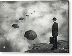 The Road Less Traveled Acrylic Print by Alain Villeneuve