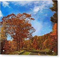 The Road To Autumn Acrylic Print by Kim Hojnacki