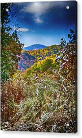 The Road To Cataloochee On A Frosty Fall Morning Acrylic Print by John Haldane