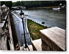 The Road To Tevere Acrylic Print by Francesco Zappala