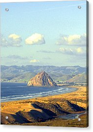 The Rock At Morro Bay Acrylic Print by Barbara Snyder