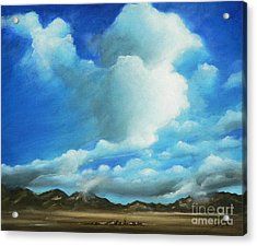 Landscapes Acrylic Print featuring the painting The Rockies by Susi Galloway