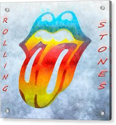 The Rolling Stones Acrylic Print by Dan Sproul