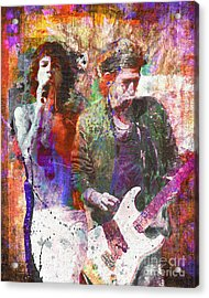 The Rolling Stones Original Painting Print  Acrylic Print by Ryan Rock Artist