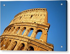 The Roman Coliseum At Sunset, Rome Acrylic Print by Brian Jannsen